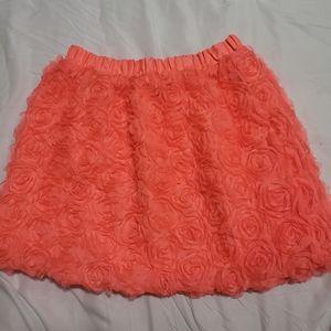 Peachy rose applique skirt